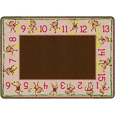 Flagship Carpets Cushy Counting Monkeys Rug, 6' x 8.4' (PE424-32)