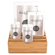 Alldock Medium Shell with Top, 4 x 2.4 USB Docking Station, Bamboo