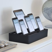 Alldock Large Shell with Top, 6 x 2.4 USB Docking Station, Black