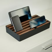 Alldock Large Shell with Top, 6 x 2.4 USB Docking Station, Black Walnut