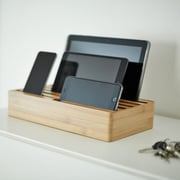 Alldock Large Shell with Top, 6 x 2.4 USB Docking Station, Bamboo