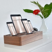 Alldock Large Shell with Top, 6 x 2.4 USB Docking Station, Walnut