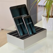 Alldock Medium Shell with Top, 4 x 2.4 USB Docking Station, Aluminium Silver Black