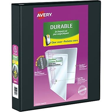 Avery® - Reliure de présentation durable à anneaux obliques en D, 1 1/2 po, noir