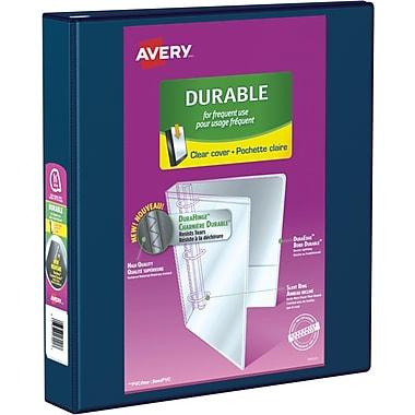 Avery® - Reliure de présentation robuste à anneaux inclinés, 1 1/2 po, bleu marine