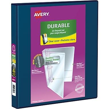 Avery® - Reliure de présentation robuste à anneaux obliques en D, 1 po, bleu marine