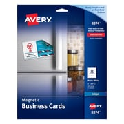 Magnetic sheets avery inkjet magnetic business cards reheart Images