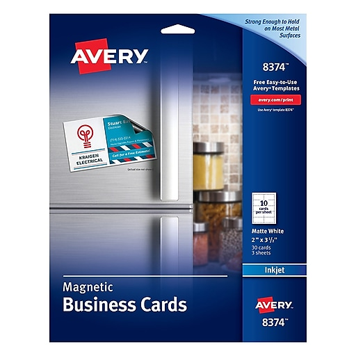 Avery inkjet magnetic business cards staples httpsstaples 3ps7is fbccfo Gallery