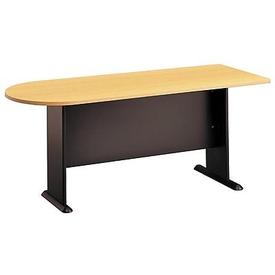 Bush Business Furniture Cubix 72W Universal Freestanding Peninsula, Beech, Installed (WC14371FA)