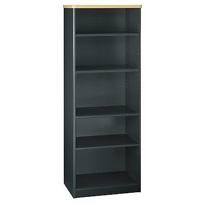 Bush Business Furniture Cubix 26W 5 Shelf Bookcase, Beech, Installed (WC14365FA)