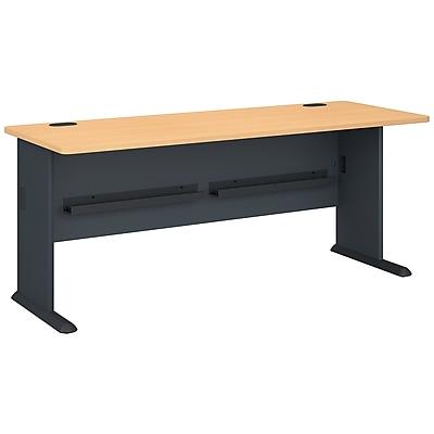 Bush Business Furniture Cubix 72W Desk, Beech, Installed (WC14372FA)