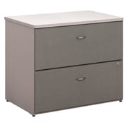 """Bush Business Furniture Cubix 36""""W 2 Drawer Lateral File Cabinet, Pewter (WC14554P)"""