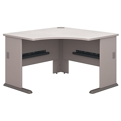 Bush Business Furniture Cubix 48W Corner Desk, Pewter (WC14566)