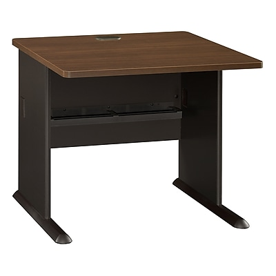 Bush Business Furniture Cubix 36W Desk, Sienna Walnut (WC25536)