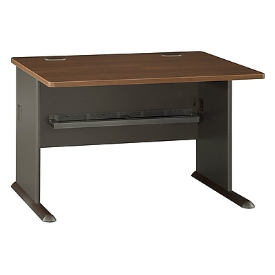 Bush Business Furniture Cubix 48W Desk, Sienna Walnut (WC25548)