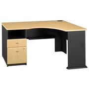 Bush Business Furniture Cubix Corner Desk with 2 Drawer Pedestal, Beech (WC14328PA)
