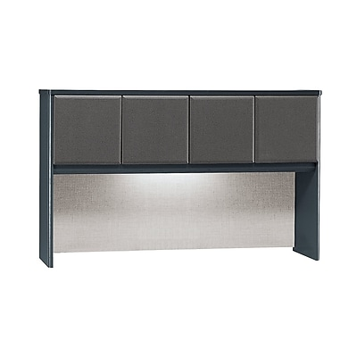 Bush Business Furniture Cubix 60W Hutch, Slate, Installed (WC84861PFA)