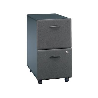 Bush Business Furniture Cubix 2 Drawer Mobile File Cabinet, Slate (WC84852P)