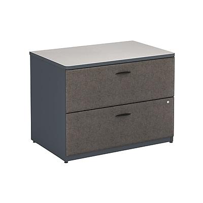 Bush Business Furniture Cubix 36W Lateral File Cabinet, Slate (WC84854PSU)