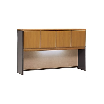 Bush Business Furniture Cubix 60W Hutch, Natural Cherry, Installed (WC57461PFA)