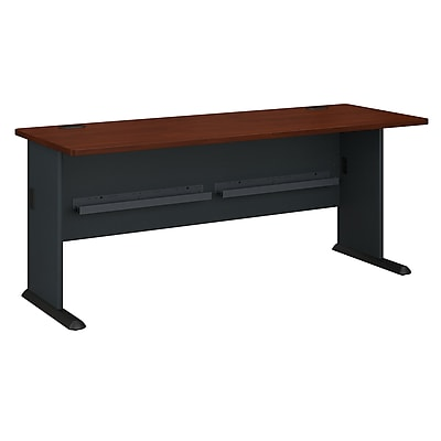 Bush Business Furniture Cubix 72W Desk, Hansen Cherry (WC94472)