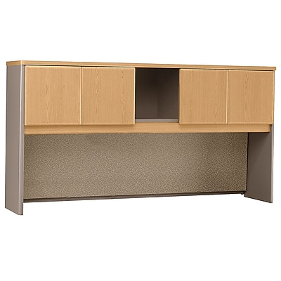 Bush Business Furniture Cubix 72W Hutch, Light Oak (WC64373P)