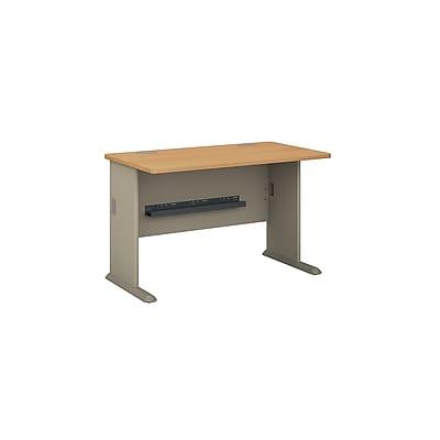 Bush Business Furniture Cubix 48W Desk, Light Oak (WC64348)
