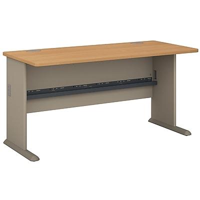 Bush Business Furniture Cubix 60W Desk, Light Oak (WC64360)