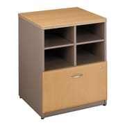 Bush Business Furniture Cubix 24 W Storage Cabinet, Light Oak (WC64323P)