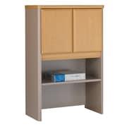 """Bush Business Furniture Cubix 24""""W Hutch, Light Oak (WC64325P)"""