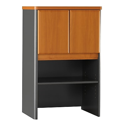 Bush Business Furniture Cubix 24W Hutch, Natural Cherry, Installed (WC57425PFA)