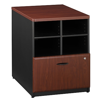 Bush Business Furniture Cubix 24W Storage Cabinet, Hansen Cherry (WC94423P)