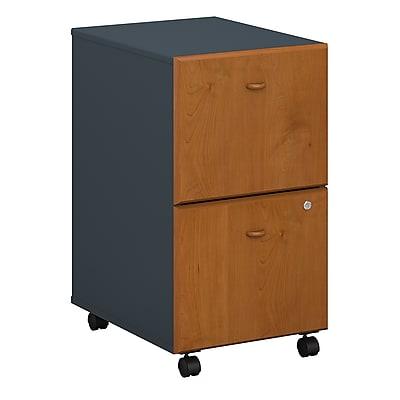 Bush Business Furniture Cubix 2 Drawer Mobile File Cabinet, Natural Cherry (WC57452PSU)