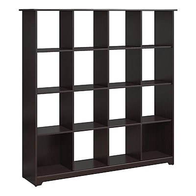 Bush Furniture Cabot 16 Cube Bookcase, Espresso Oak (WC31803-03)