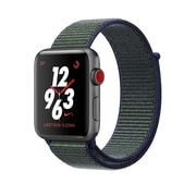 Apple Watch Series 3 Nike+, GPS + Cellular, Space Grey Aluminium Case, with Midnight Fog Nike Sport Loop