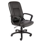 Office Star Manager's Bonded Leather Chair, Black (EC20268-EC3)