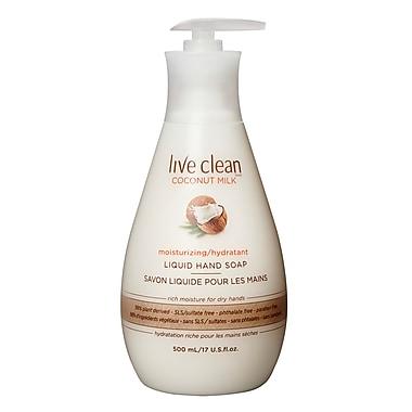 Live Clean™ Replenishing Liquid Hand Soap, 500 mL, Coconut Milk (33234)