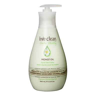 Live Clean™ Replenishing Liquid Hand Soap, 500 mL, Monoi Oil (32841)