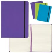 "Merangue 6"" x 8"" Pu Notebook w/Strap"