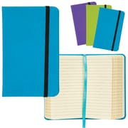 "Merangue 3.5"" x 5.7"" Pu Notebook w/Strap"