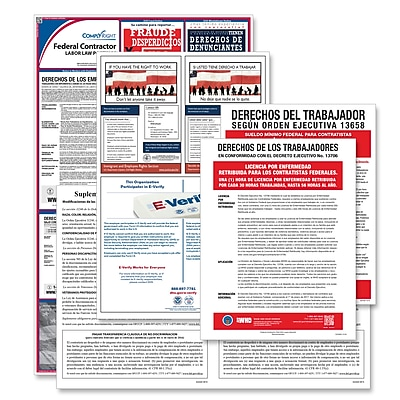 ComplyRight Federal Contractor Poster Bundle, Spanish (EFEDFCCRS)