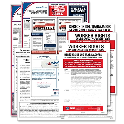 ComplyRight Federal Contractor Poster Bundle, Bilingual (EFEDFCCRB)