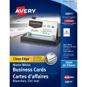 Business cards staples avery clean edge inkjet business cards 3 12 x 2 reheart Images
