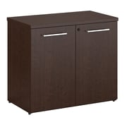 Bush Business Furniture Emerge Bookcase with Doors, Mocha Cherry (300S107MR)