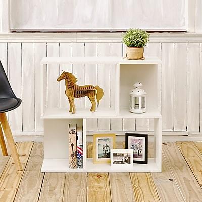 Way Basics Eco-Friendly 2 Shelf Soho Bookcase, Side Table, Storage Shelf, White