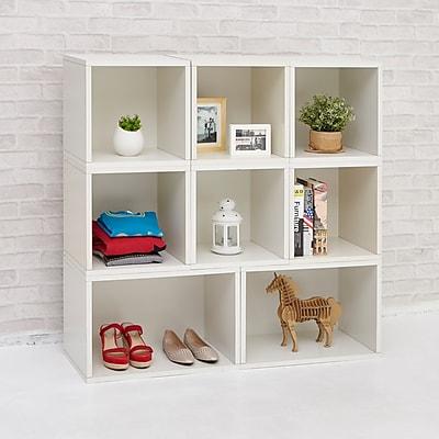 Way Basics Milan Storage Blox Eco Friendly Modular Shelving, White
