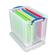 Really Useful Boxes® 19L Storage Box, Clear