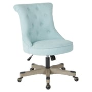OSP Designs Fabric and Grey Wood Base  Hannah Tufted Office Chair