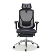 Moustache® Adjustable Mesh Office Chair with Footrest,  Black (SP-HLC-1168F-1)