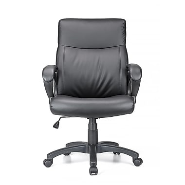 Moustache® Mid Back Bonded-Leather Office Chair with Armrest, Black on leather reception chair, office table, leather car chair, manager chair, leather industrial chair, white leather chair, executive desk, ergonomic chair, mesh chair, task chair, home office furniture, waiting room chair, executive office chair, dining chair, office furniture, folding chair, leather client chair, spanish leather chair, leather kitchen chairs, conference chair, ergonomic office chair, mesh office chair, product executive chair, leather executive chairs, leather counter chairs, computer chair, swivel chair, leather club chair, samsonite executive chair, leather dental chair, computer furniture, executive chair, brown chair, leather sofa, desk chair, leather chairs clearance,
